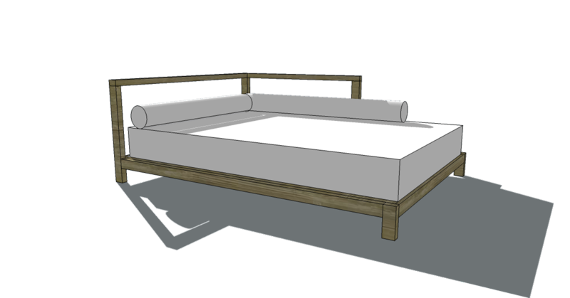 Build It! Plans: 2×2 Full Sized One Arm Daybed